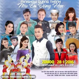 Mini Show: Nếu Em Đừng Hẹn - Quang Thành
